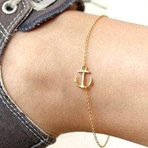 Gold ANCHOR Ankle Bracelet Anklet Jewelry